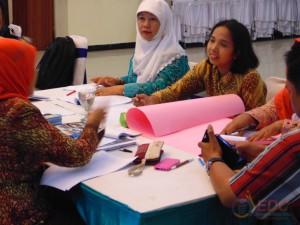 Kerjasama antar peserta dalam kelompok