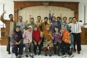 Foto bersama peserta diklat kepala perpustakaan kelas A